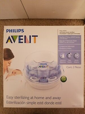 New Philips Avent Microwave Sterilizer For Baby Bottles Holds 4 Bottles