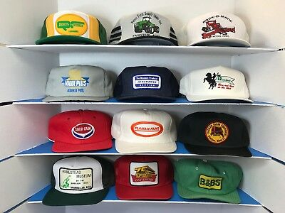 Lot #12 Vintage Trucker Farmer Baseball Hats > Lot of 12 < See Photos and Read