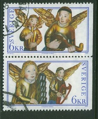 Sweden 1997 Christmas Joined Pair Complete Set Used