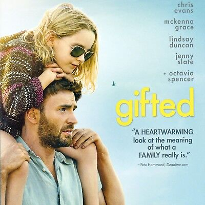 Gifted 2017 PG-13 drama movie, new DVD +DHD Chris Evans, M Grace Octavia Spencer