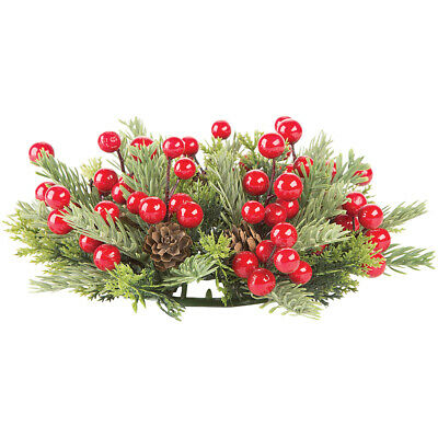 "Pine/Berry Candlering For 3"" Candle-"