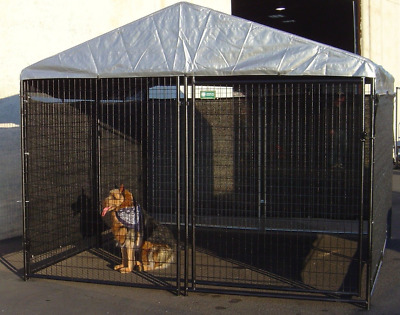 NEW Big Dog Kennel Cage Pet Wind Screen Extra Large Outdoor Heavy Duty Portable