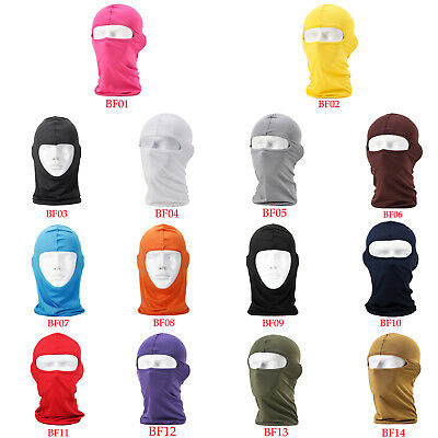Lycra Full Face Mask Balaclava Ski Neck Summer Sun Ultra UV Protection new