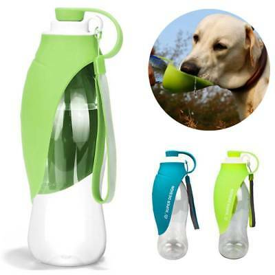 Portable Pet Water Bottle Dispenser for Dog Cat Travel Feeder Tray Bowl BPA-Free