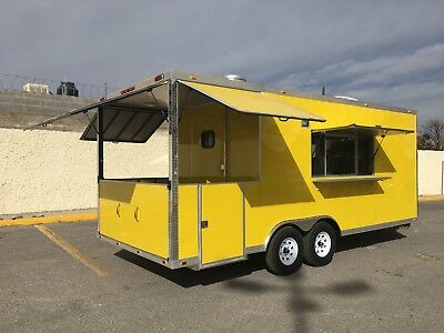 20' x 8.5' CONCESSION FOOD TRAILER RESTAURANT CATERING BBQ LOADED..!!