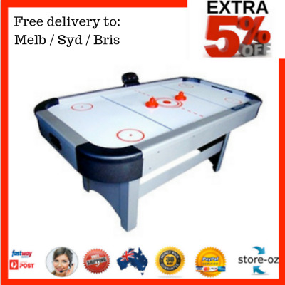7Ft Air Hockey Table + Electronic Scorer + Powerful Blowing Fan System