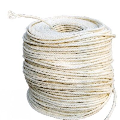 1/5/10M 6mm DIY Cat Scratching Post Pet Toy Natrual Cordage Twisted Sisal Rope