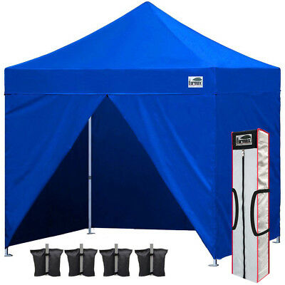 Ez Pop Up Canopy 10x10 Outdoor Commercial Instant Party Market Tent+4 Side Walls