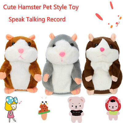 Cute Adorable Funny Speak Talking Record Hamster Mouse Plush Kids Great Gift Toy