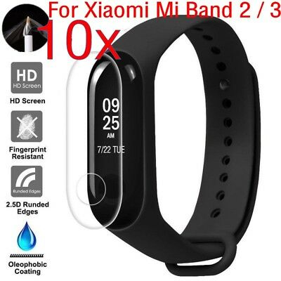 2-10X Clear TPU Screen Protector Protective Guard For Xiaomi Mi Band 2 3 LOT