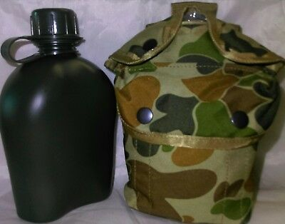 Combo# 1Lt Canteen And Auscam Dpcu Molle Pouch Fits Kidney Cup / Stove -Csg