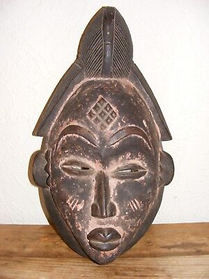 Large Wooden African(?) Hand Carved Wall Face Mask