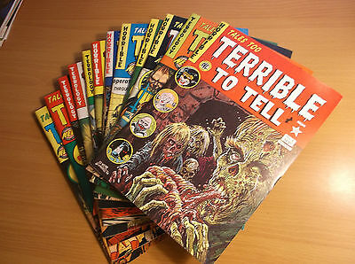 Nec: Tales Too Terrible To Tell Comic Books  #1+1 (2Nd Prt) - 11, 50's Reprints!