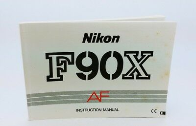 Original NIKON F90X film camera Instruction Manual