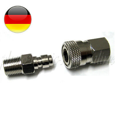 "Schnellkupplung Paintball Quick Connector 1/8"" HP Male&Female paintball adapter"