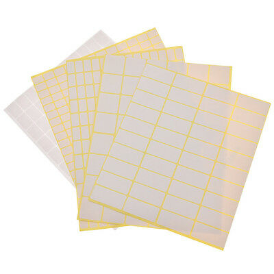 15 Sheets/pack Self Adhesive Sticky White Label Name Stickers Blank Note Label