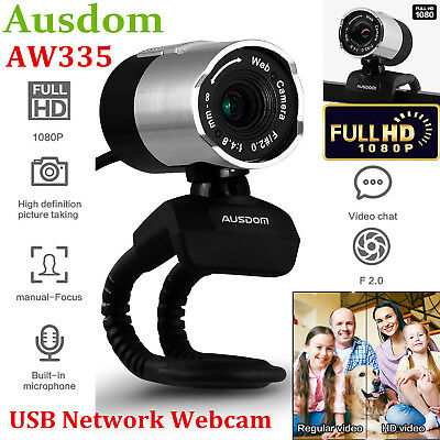 Ausdom AW335 1080P Full HD USB WebCam Network Camera Web Cam With Mic For Laptop