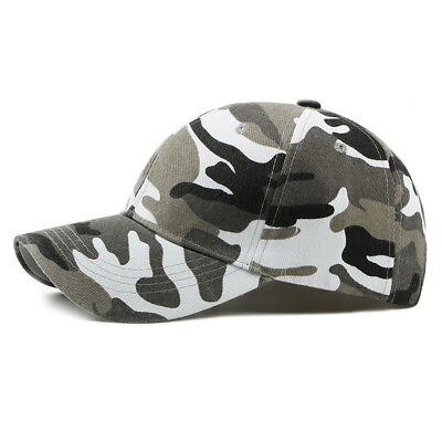 Mens Camouflage Military Adjustable Hat Camo Hunting Fishing Army Baseball Cap