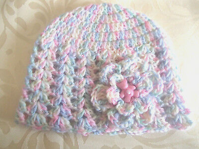 Handmade Crochet Baby Hat  in Patons baby 4 ply H#06