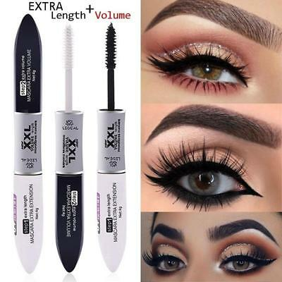 2 IN 1 Silk Fiber Double Head Mascara Slim Waterof with Black and White Brush s