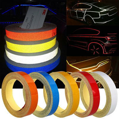1725 Car Reflective Strip Safety Warning Conspicuity Tape Sticker DIY 1CMx5M