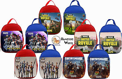 FORNITE PERSONALISED LUNCH BAG - Choice of Red or Blue