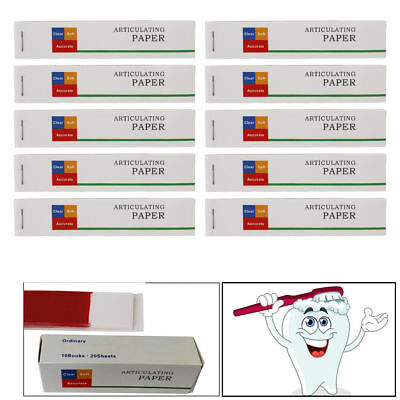 NEW Dental Practical Articulating Paper Red/Blue Thick Strips 20 Sheets/Book VIP