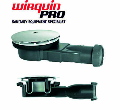 Wirquin Slim Extra Flat Low Shower Waste Trap With Trough 90mm 4cm ⌀ 40/43