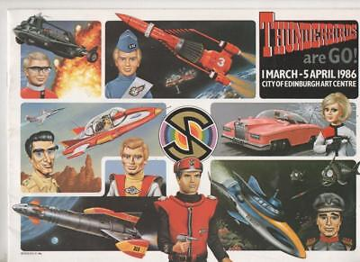 Thunderbirds are Go brochure from Edingurgh Arts Centre Exhibit 1986  Very Rare