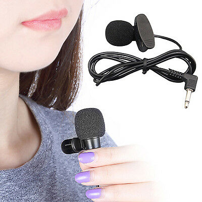 AM_ 3.5mm Hands Free Computer Clip On Mini Lapel Microphone for PC Laptop Cheap