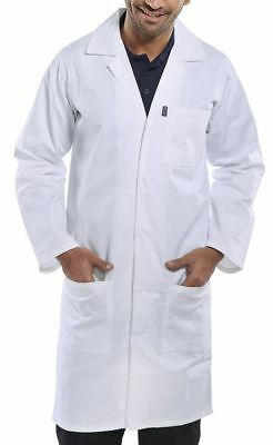 Lab Coat Hygiene Food Industry Warehouse Laboratory Doctors Medical White stud