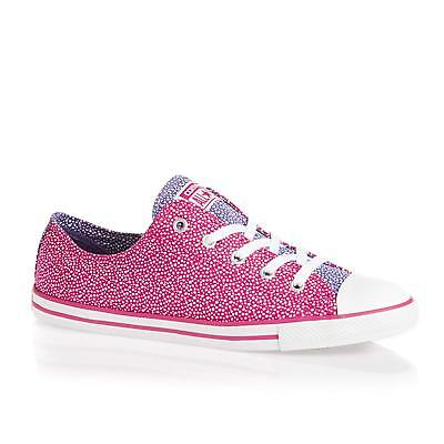 Ladies Girls Converse All Star Chucks Womens Cosmic Pink Dainty Ox Trainers Size