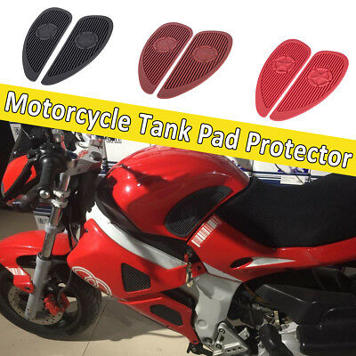 2X Rubber Motorcycle Oil Gas Fuel Tank Sticker Pad Protector Decals Sticker