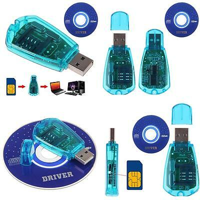 AM_ HK- USB Cellphone SIM Card Reader Copy Cloner Writer SMS Backup GSM/CDMA+CD