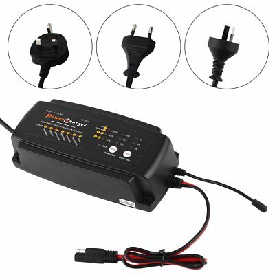 12V 2/4/8A 7-Stage 3in1 Smart Waterproof Battery Charger for Car Motorcycle AGMA