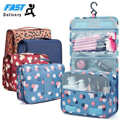 Ladies Wash Bag Toiletry handbag Hanging Travel Case Cosmetic Make Up Pouch Kit