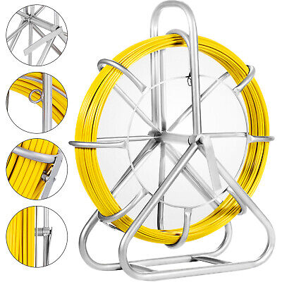 130M/425ft Fish Tape 6mm Fiberglass Wire Cable Running Rod Duct Rodder Puller