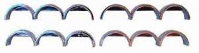 CHROME TRUCK & TRAILER MUDGUARDS Fenders Triples 4 pc HO 1/87 Scale HERPA 5384