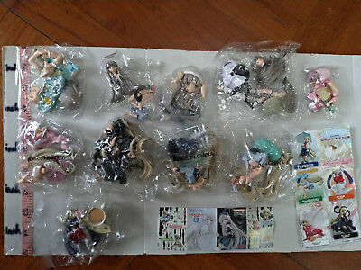 Kaiyodo K&M clamp chobits chi chii girl figure gashapon part 1 & 2 total 10 pcs