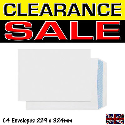 High quality White C4 A4 Self Seal Envelopes Plain Without Window 324 x 229mm