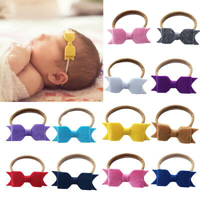 AM_ LC_ Baby Newborn Toddler Girl Felt Bow Headband Hairband Hair Accessories La