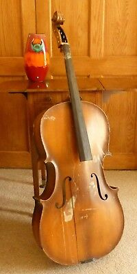 OFFER - OLD CELLO FOR RESTORATION FROM ESTATE OF DECEASED LUTHIER  RESTORE  no 2