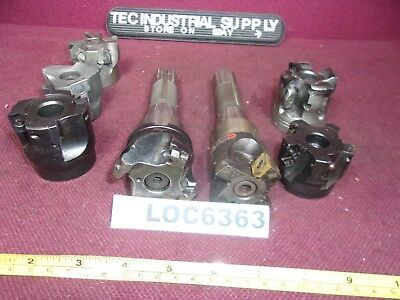 "Lot Of 7 R8 2"" Face Mills & Holders Loc6363"