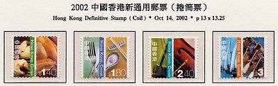 Hong Kong 2002 Michel No. 1071-1074 = 3,50 EUR VF MNH Set