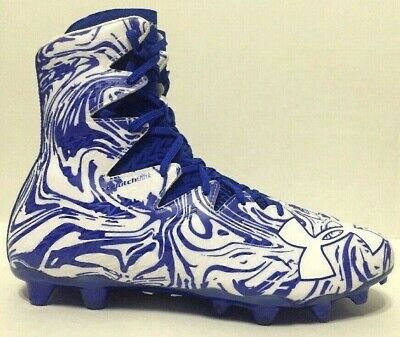 Under Armour Mens Highlight LUX MC Cleats Royal Blue White 1297953-411