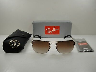 952ec8ca776 Authentic Ray-Ban Sunglasses Rb3541 001 13 Gold Frame brown Gradient Lens  61Mm