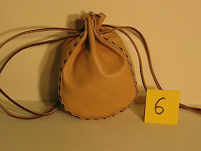 Lgb-06 Light Coffee Leather Drawstring Bag Or Purse Free Shipping Within Usa