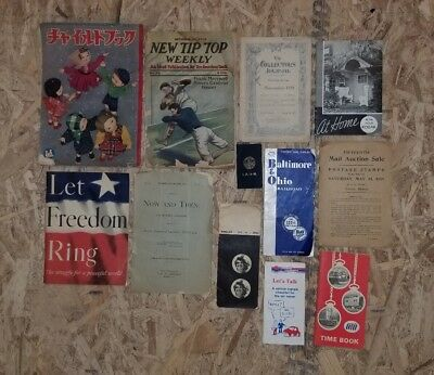 Vintage Paper Lot Brochures Magazines B&O Time Table Rollei Camera Price List