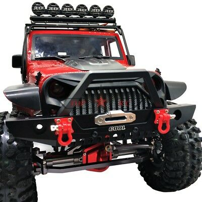 METAL FRONT BUMPER BULL BAR W/ LED FOR 1/10 Traxxas TRX-4 AXIAL SCX10 II JEEP