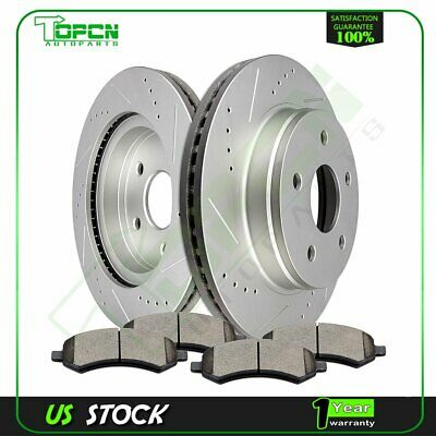 302.1mm Front Drilled Slotted Rotor /& Semi-Metallic Pads Kit For Chevrolet Isuzu